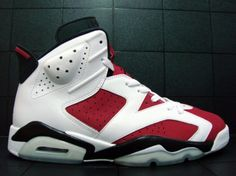 "Air Jordan 6 ""Carmine"" (White/Carmine/Black)"