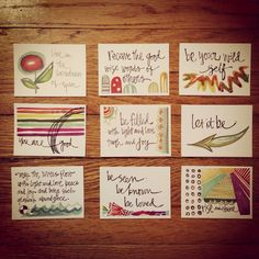 Watercolor plus quotes - Art inspiration, but with poetry instead.
