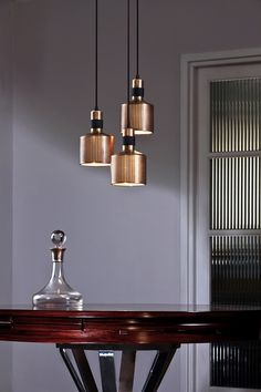 Bert frank riddle ceiling pendants. One of the most beautiful suspension lighting projects I've ever seen.