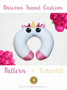 Sewing For Beginners Projects Unicorn travel pillow - Are you ready to turn your plain into magic news? This is the pattern of a Sewing Hacks, Sewing Tutorials, Sewing Crafts, Sewing Tips, Sewing Ideas, Diy Crafts, Learn Sewing, Simple Crafts, Sewing Patterns Free