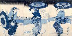 utagawa kunisada - courtesans in snow ca. 1818-30