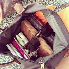 fashion, accessori, preppi, longchamp style, longchamp bag, closet, bags, purse organization