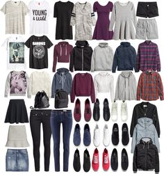 Stiles Inspired H&M Potentials by veterization featuring collared sweatshirts H M three quarter length sleeve dress, $46 / H M jersey dress, $31 / Long sleeve dress / H M flare dress, $20 / Tartan top...