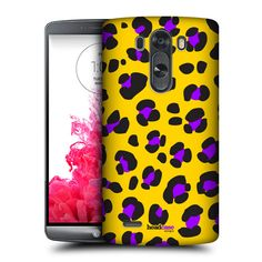 HEAD CASE DESIGNS YELLOW LEOPARD MAD PRINTS HARD BACK CASE FOR LG G3 D855 D850