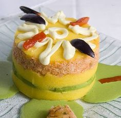 Causa - a truly magical combination of potatoes and other tasty ingredients that is a specialty in Peru Peruvian Dishes, Peruvian Cuisine, Peruvian Recipes, Comida Latina, Pollo Recipe, Good Food, Yummy Food, Latin Food, Seafood Dishes