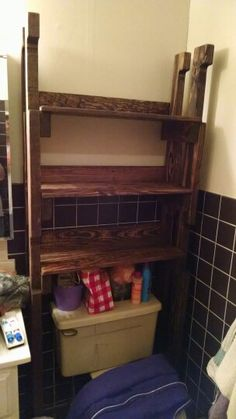 over the toilet bathroom shelf plans diy pinterest toilets shelves and the o 39 jays. Black Bedroom Furniture Sets. Home Design Ideas