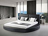 Greatime B1159 Modern Round Bed, Queen, Black (Black)   Modern round design platform bed Good for standard queen size mattress, no need of box spring or othr foundation Sturdy wooden frame covered by high quality leatherett Enjoy durability and comfort and beauty at same time with this bed...