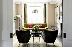 Tour a West London townhouse with eclectic modern style. Design by Henri Fitzwilliam Lay