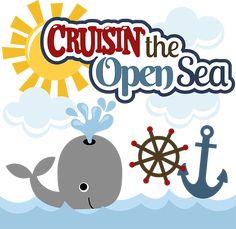 Cruisin' The Open Sea SVG Scrapbook Collection whale svg file cruise svg files for scrapbooks