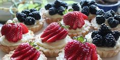 Cristine of Cooking with Cristine picked Quick Classic Berry Tart. This sweet buttery tart crust filled with a vanilla pastry cream an. Berry Tart, Afternoon Tea, Delish, Sweet Treats, Bakery, Cheesecake, Deserts, Dessert Recipes, Food And Drink