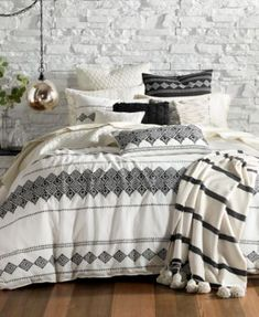 Lucky Brand Embroidered Ikat Bedding Collection | macys.com