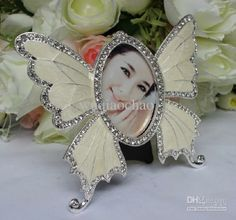 Wholesale for Home - Buy 2x3 Fashion Butterfly Alloy Photo Frame With Diamond For Home Decoration Accessories Wedding Gift Birthday Gift, $2...