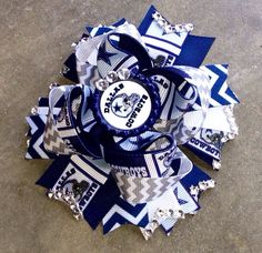 Dallas Cowboys Inspired Hair bow by YaYasBows on Etsy