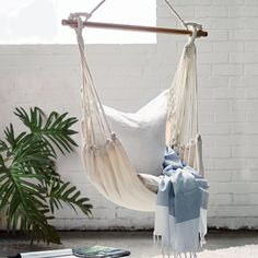 The Noosa Natural Hammock Chair Swing is perfect Hammock Balcony, Hammock In Bedroom, Garden Hammock, Hanging Hammock Chair, Indoor Hammock, Swinging Chair, Chair Swing, Patio Canopy, The Block