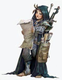 Female dwarven adventurer