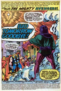 The Avengers Issue - Read The Avengers Issue comic online in high quality Marvel Art, Marvel Comics, Sal Buscema, Splash Page, Jack Kirby, Comics Online, So Little Time, Color Splash, Avengers