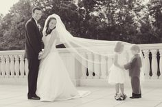 Such a cute wedding photo idea! | photo by http://www.vanessajoy.com | see more http://www.thebridelink.com/blog/2013/09/04/new-jersey-garden-wedding-by/