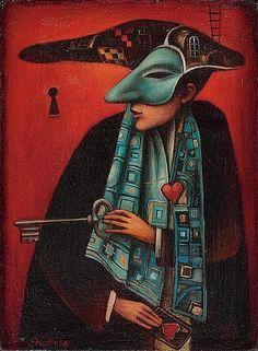 KEY MAN, Boris Shapiro (Ukrainian-Israeli Artist was born in 1968 in Lvov, Ukraine; since 1991 lives in Israel)