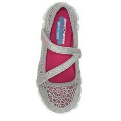 Skechers: Lil Sweetpea girls Mary Jane shoes (silver) Silver Shoes, Mary Jane Shoes, Skechers, Mary Janes, Girls, Closet, Fashion, Mary Jane Wedges, Toddler Girls