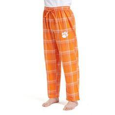 Ncaa Clemson Tigers Groundbreaker Men's Flannel Pant, Size: Large, Orange