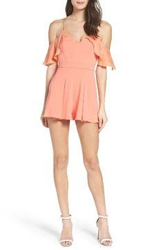 Free shipping and returns on Jay Godfrey Felix Cold Shoulder Romper at Nordstrom.com. Flowy silk ruffles coupled with gently pleated shorts create a soft silhouette that highlights your frame with a V-neckline and cold-shoulder cutouts.