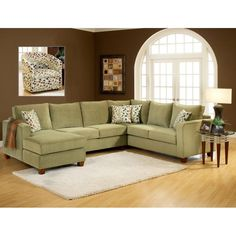 Chelsea Home Bailey 3 Piece Sectional - Bella Lichen - 254400-SEC