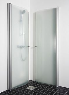 Fold Away Shower Enclosure Via Kermi Perhaps This Is Chocolate Baby Shower Favors Compact Bathroom, Small Bathroom, Bathroom Showers, Corner Shower Doors, Shower Cabinets, Luxury Shower, Shower Units, Shower Cubicles, Shower Surround