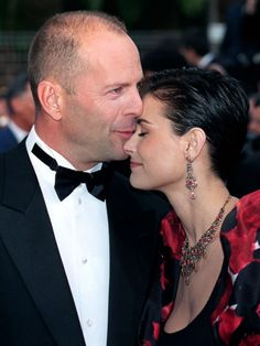 Demi Moore & Bruce Willis. As of 6/2015, it appears that they are getting back together. I hope so. I was sorry to see them ever split up in the first place.