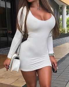 Low Cut Dresses, Sexy Dresses, Short Dresses, Actrices Sexy, Short Mini Dress, Sexy Skirt, Mode Style, Sexy Outfits, Anastasia