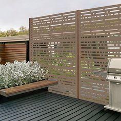 H x 4 ft. W Morse Decorative Vinyl Privacy Screen Privacy Screen Outdoor, Backyard Privacy, Backyard Patio, Garden Privacy Screen, Privacy Fences, Privacy Screens, Privacy Planter, Decks With Privacy Walls, Privacy Trellis