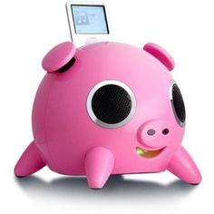 iPig: an ipod speaker that looks like a pig. perfect for the kitchen.