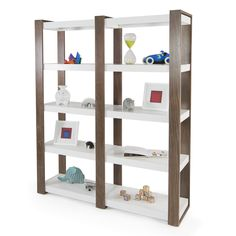 Double the space for double the display in this austin bookshelf.  Additional finish options and customizations available. Call or Live Chat with Client Services to order! Made in the USA