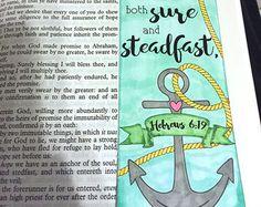 Bible Journaling Bible Verse Art Bible Verse by BelievingImages