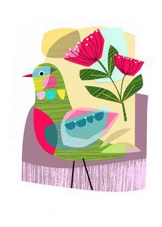 TARDE de primavera, pájaro, Ellen Giggenbach, imprimir