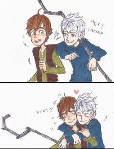 Book 2 of Yaoi pictures. Jack Frost, Cartoon As Anime, Cartoon Ships, Hiccup Jack, Disney Theory, Fanart, Disney And Dreamworks, Dreamworks Animation, The Big Four