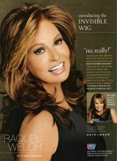 RAQUEL WELCH | HAIR U WEAR  ADVERTISMENT  CAMPAIGN  2010