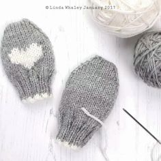 Baby Mittens Knitting Pattern, All Free Knitting, Knitted Socks Free Pattern, Beginner Knitting Patterns, Knitted Hats Kids, Baby Hats Knitting, Baby Knitting Patterns, Loom Knitting, Hand Knitting