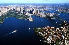 New South Wales. Apart from the large Harbour Bridge if you look in the very centre you can pick out the sails of the famous Opera House. Visit Australia, Sydney Australia, Australia Living, Wonderful Places, Beautiful Places, Wonderful Time, Places To Travel, Places To See, Travel Around The World