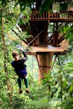 More ideas below: Amazing Tiny treehouse kids Architecture Modern Luxury treehouse interior cozy Backyard Small treehouse masters Plan. Beautiful Tree Houses, Cool Tree Houses, Cozy Backyard, Backyard For Kids, Zip Line Backyard, Pallet Tree Houses, Interior Pastel, Building A Treehouse, Treehouse Kids