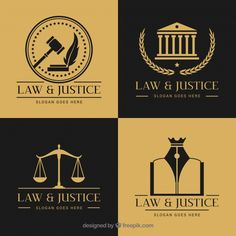 freevector corporate logotype business freepik justice vector free law set Law logotype set Free VectorYou can find Business and more on our website Lady Justice, Law And Justice, Law Tattoo, Law Icon, Law Firm Logo, Luxury Business Cards, Law Books, Attorney At Law, School Logo