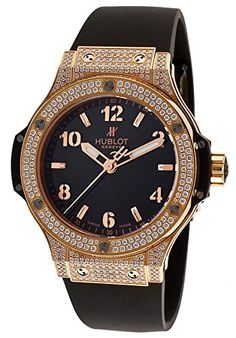 Hublot-Womens-Big-Bang-Gold-Diamond-Black-Rubber-and-Dial-0