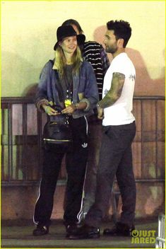 Adam Levine Hangs Backstage with Wife Behati Prinsloo After Performing with Maroon 5 at Grammy Christmas Concert!