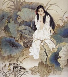 Wang meifang and Zhao Guojing Wang Meifang, is a second-class artist at the Tianjin Academy of Arts and Crafts. Zhao Guojing, is a first-class painter at the Tianjin Academy of Painting. Art Asiatique, Illustration Mode, Botanical Illustration, Art Japonais, Fairytale Art, Chinese Art, Chinese Painting, Aesthetic Art, Figurative Art
