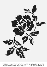 Find Flower Motif Sketch Design stock images in HD and millions of other royalty-free stock photos, illustrations and vectors in the Shutterstock collection. Spray Paint Stencils, Stencil Fabric, Stencil Printing, Stencil Patterns, Stencil Art, Stencil Designs, Fabric Painting, Flower Stencils, Stenciling