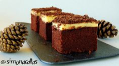 Chocolate cake squares with pastry cream frosting - simonacallas Romanian Desserts, Romanian Food, Cake Decorating Piping, Keto Cake, No Cook Desserts, Food Cakes, Cake Cookies, Yummy Cakes, No Bake Cake