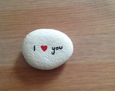 Hand painted stone with acrylic paint