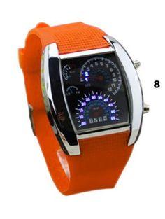 LED Digital Watch Men's Race Speed Sport
