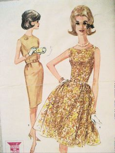 McCalls 6766 Vintage Unused Womens 60s Pattern 18 Dress Rockabilly