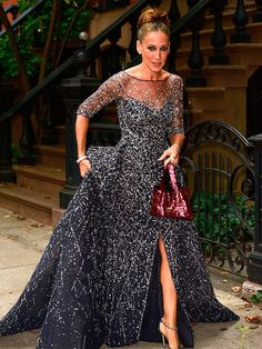 Here's Sarah on her way to the 2015 New York City Ballet Gala wearing a Zuhair Murad gown - though she looks like she's filming an episode of SATC.