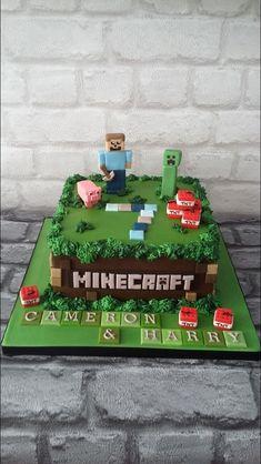 minecraft cake ideas \ minecraft cake + minecraft cake ideas + minecraft cake easy + minecraft cake birthday + minecraft cakes for boys + minecraft cake pops + minecraft cake cupcakes + minecraft cake diy Minecraft Party, Pastel Minecraft, Minecraft Birthday Cake, Cake Minecraft, Minecraft Cupcakes, Minecraft Room, Minecraft Projects, Minecraft Ideas, Minecraft Skins